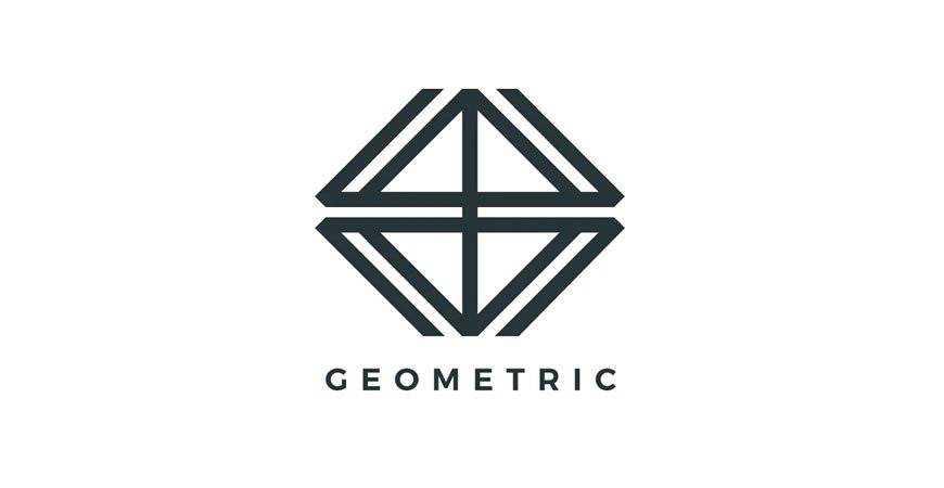 Modern geometric logo template