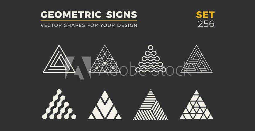 Minimalistic geometric logo template