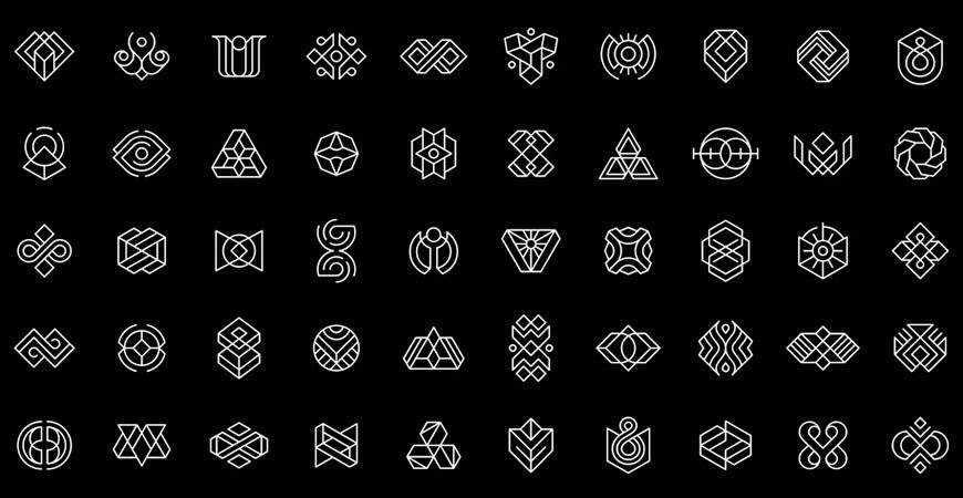 50 Abstract geometric logo template