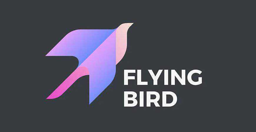 Flying Bird geometric logo template