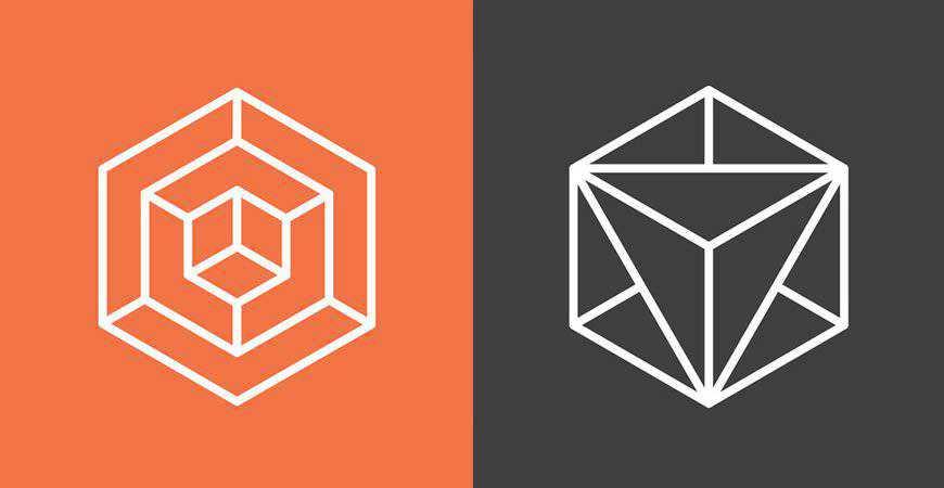 Hexagon Geometric Vector logo template