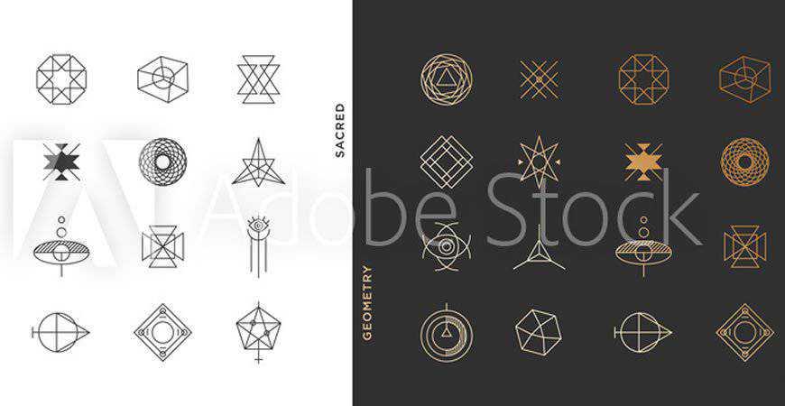 Abstract geometric logo template