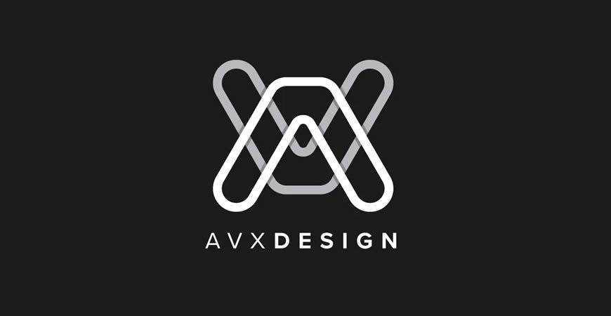 AVX Design Letter geometric logo template