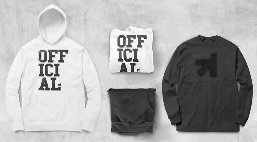 Zip Up Hoodie Tee Collection Photoshop PSD Mockup Template