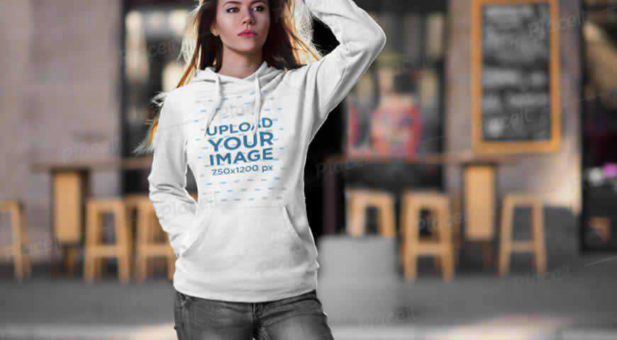 Pullover Hoodie Photoshop PSD Mockup Template