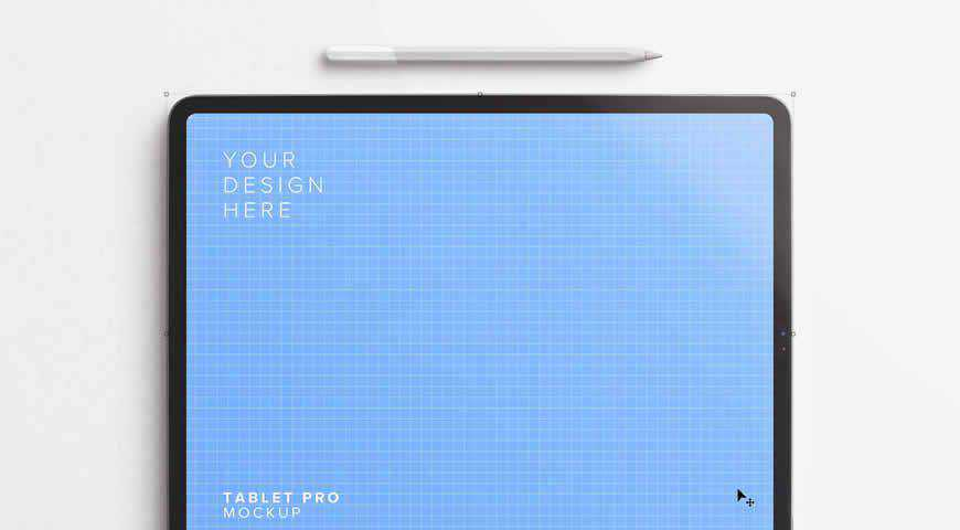 Tablet Photoshop PSD Mockup Template