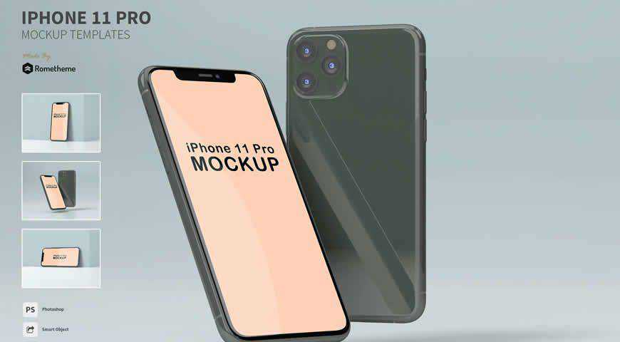 iPhone Pro Photoshop PSD Mockup Template