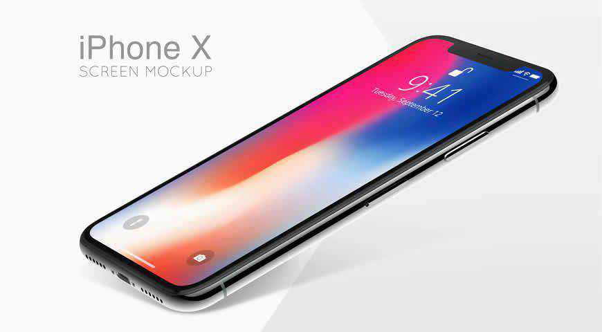 iPhone X Photoshop PSD Mockup Template