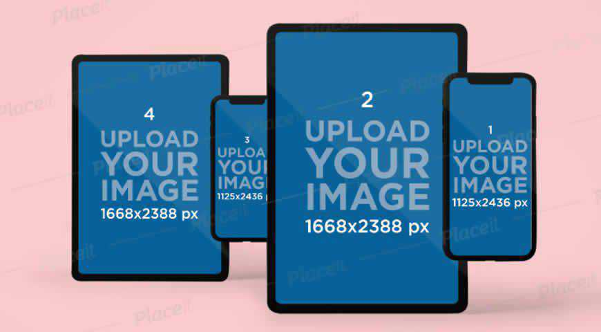 iPhone 11 Pro & iPad Pro Photoshop PSD Mockup Template