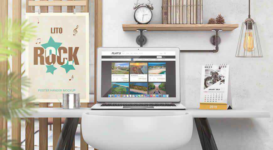 Laptop Photoshop PSD Mockup Template