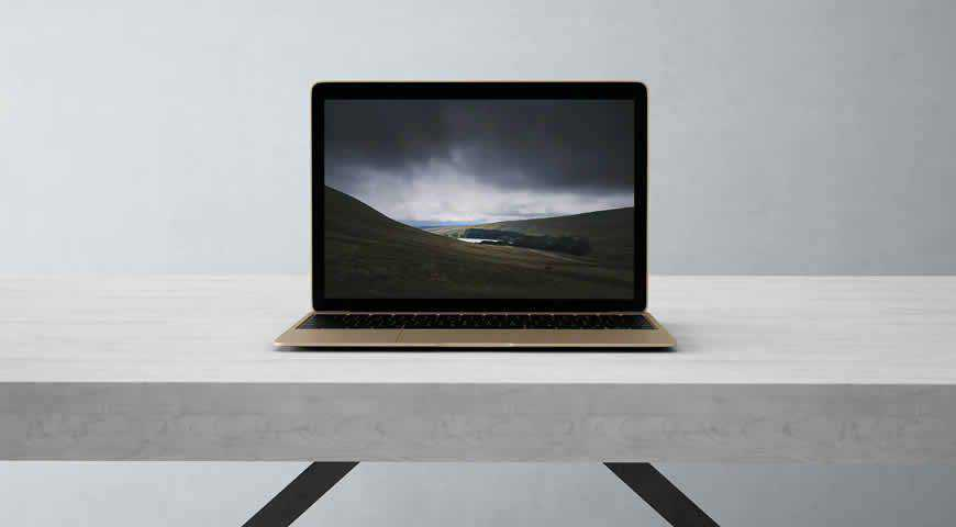 Photorealistic Laptop Photoshop PSD Mockup Template
