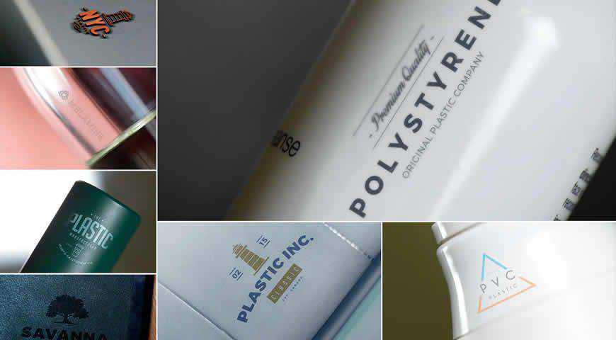 Plastic Logo Photoshop PSD Mockup Template