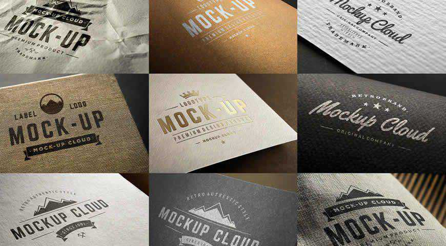 Logo Set Photoshop PSD Mockup Template