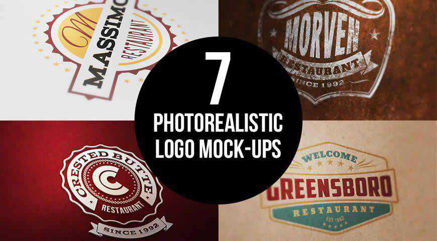 Photorealistic Logo Photoshop PSD Mockup Template