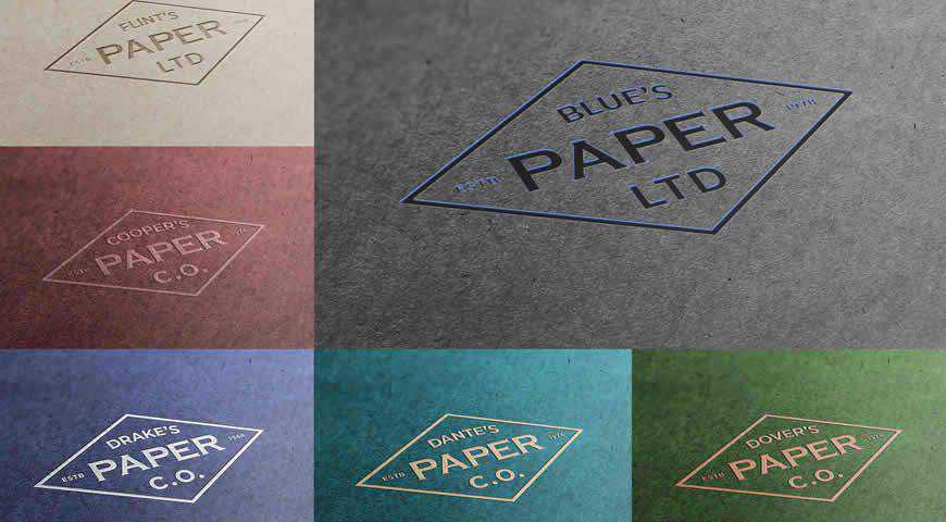 Paper Logo Photoshop PSD Mockup Template