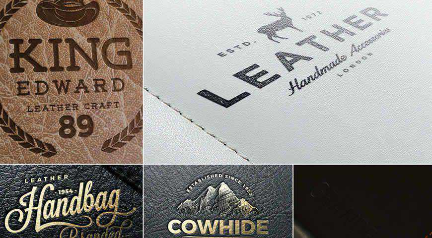 Leather Logo Photoshop PSD Mockup Template