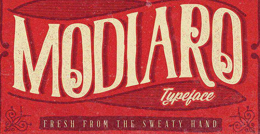 Modiaro Vintage Branding logo font typeface logotype