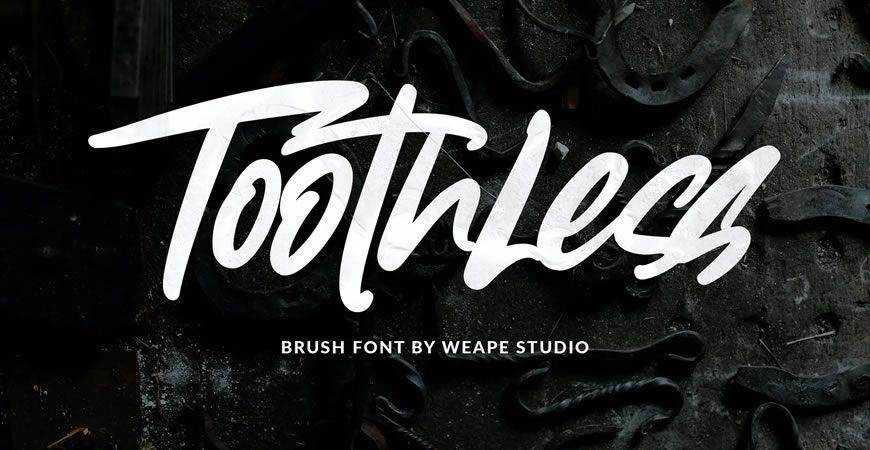 Toothless Brush logo font typeface logotype