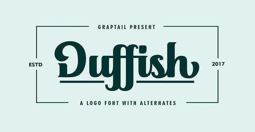 Duffish Script logo font typeface logotype