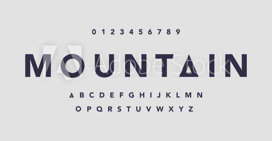 Mountain Minimal logo font typeface logotype