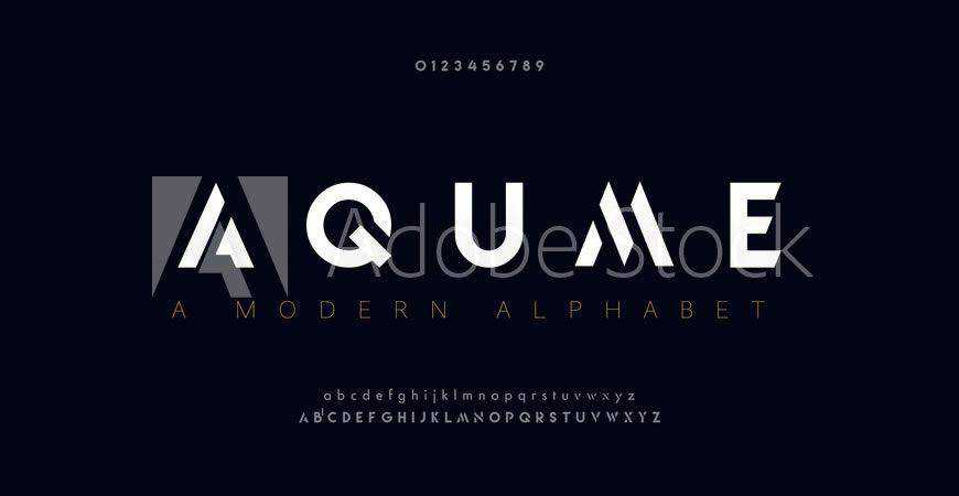Aqume Abstract logo font typeface logotype