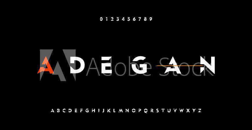 Adegan Bold logo font typeface logotype