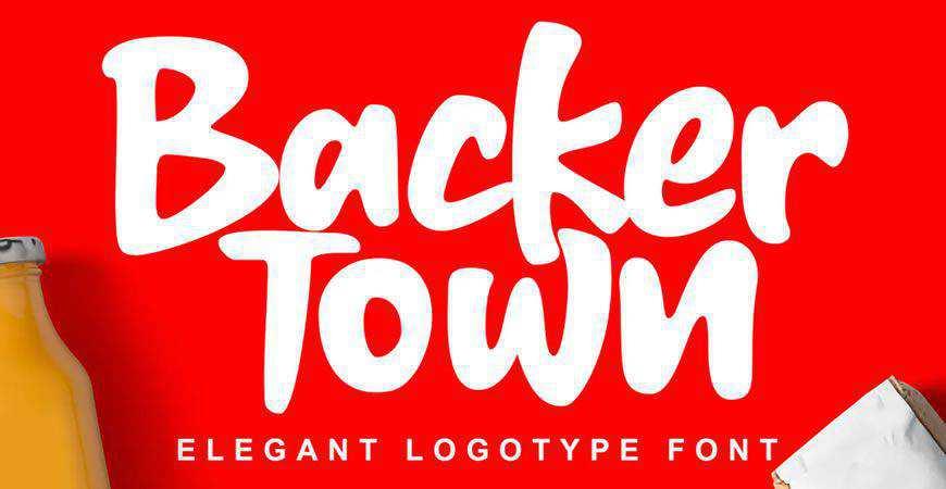 Backer Town Elegant logo font typeface logotype