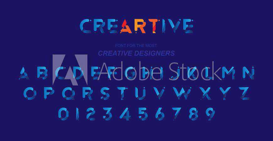 Creartive logo font typeface logotype