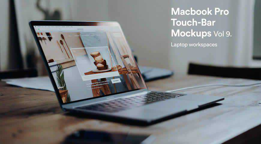 Macbook Pro Photoshop PSD Mockup Template