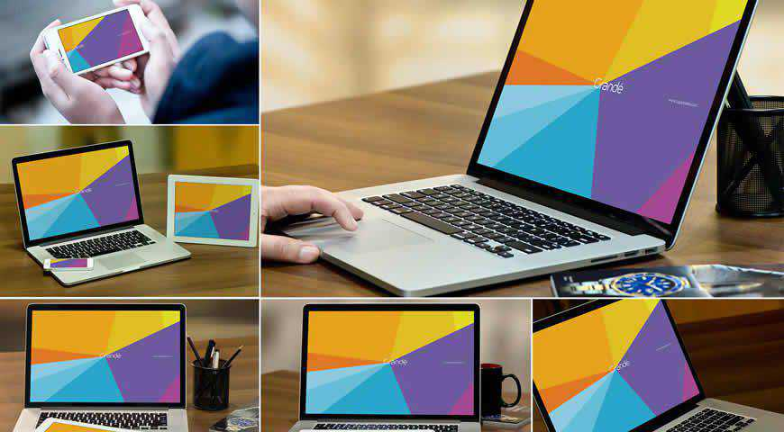 MacBook Photoshop PSD Mockup Template