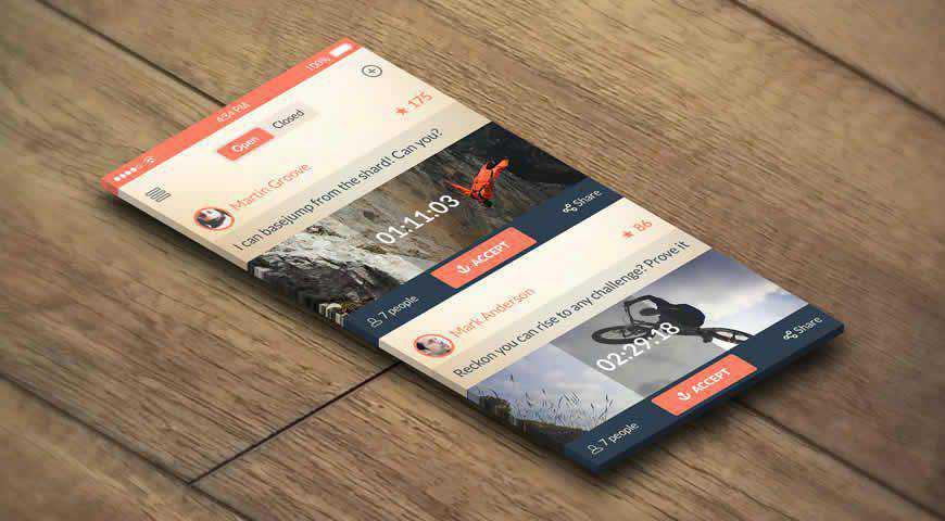Realistic App Photoshop PSD Mockup Template