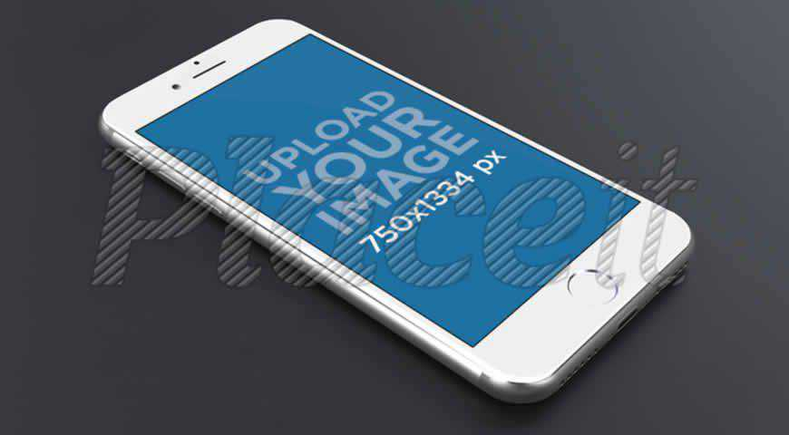 Silver iPhone Photoshop PSD Mockup Template