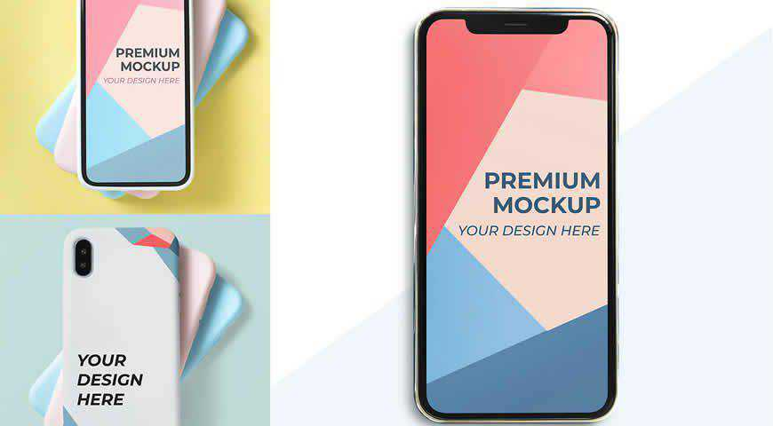 Mobile Design Photoshop PSD Mockup Template