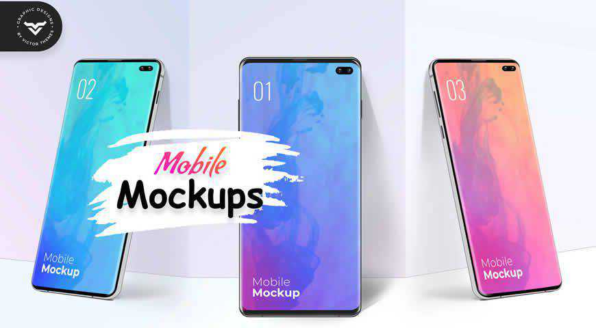 Mobile Photoshop PSD Mockup Template