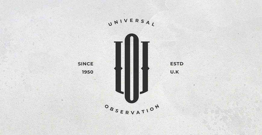UO Monogram Logo Template