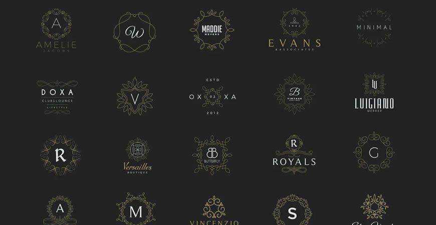 20 Monogram Crest Logo Template