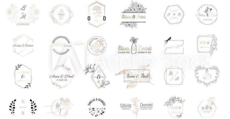 Wedding Monogram Logo Templates