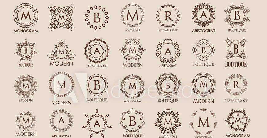 Simple Elegant Monogram Logo Templates