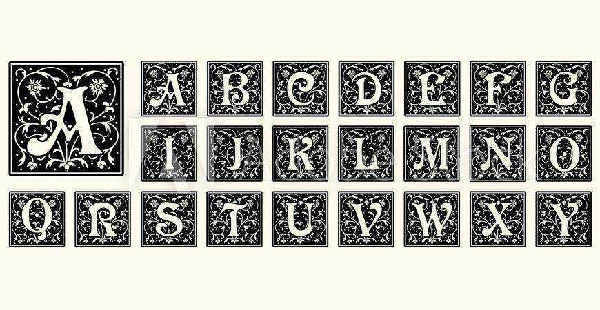 Vintage Capital Letters Templates