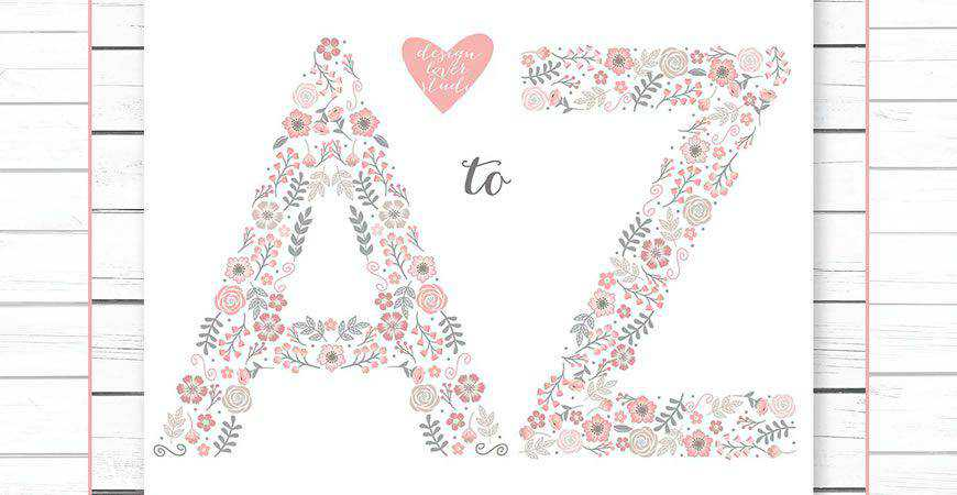 Monogram Flower Alphabet Logo Template