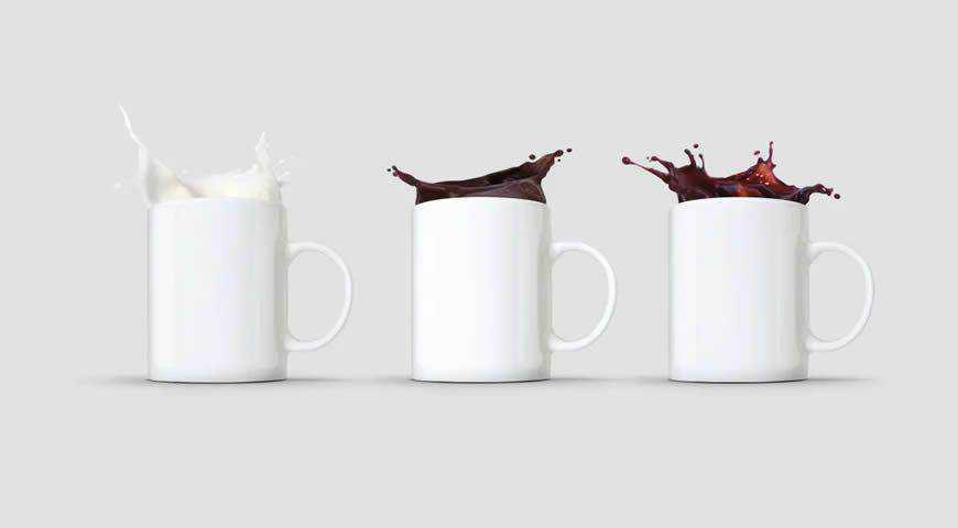 Mug Splash Photoshop PSD Mockup Template