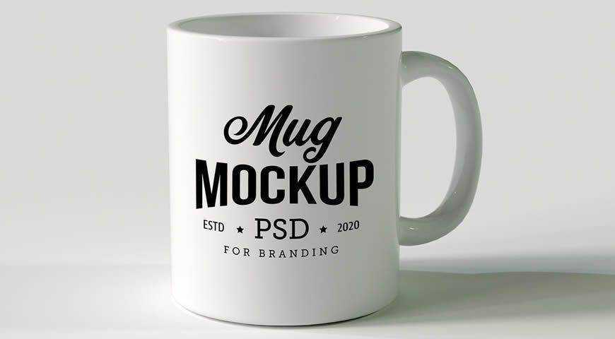 Mug Photoshop PSD Mockup Template