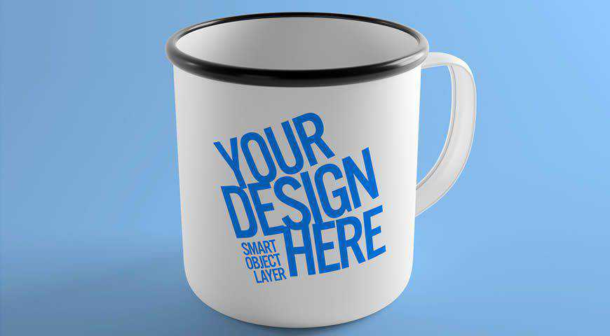Metal Mug Design Photoshop PSD Mockup Template