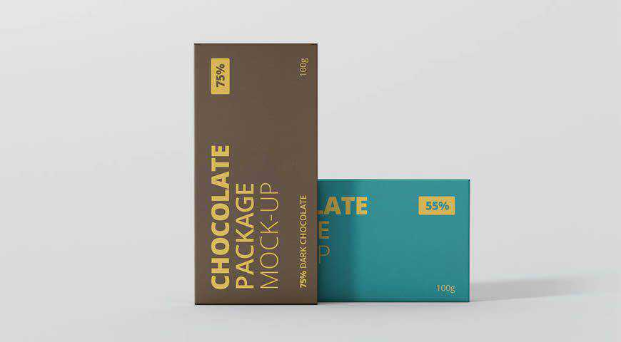 Chocolate Packaging Photoshop PSD Mockup Template