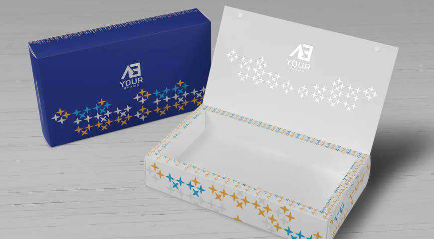 Package Box Photoshop PSD Mockup Template