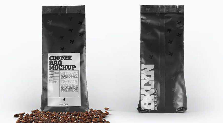Coffee Bag Packaging Photoshop PSD Mockup Template