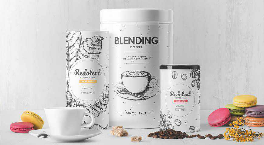 Coffee Packaging Photoshop PSD Mockup Template