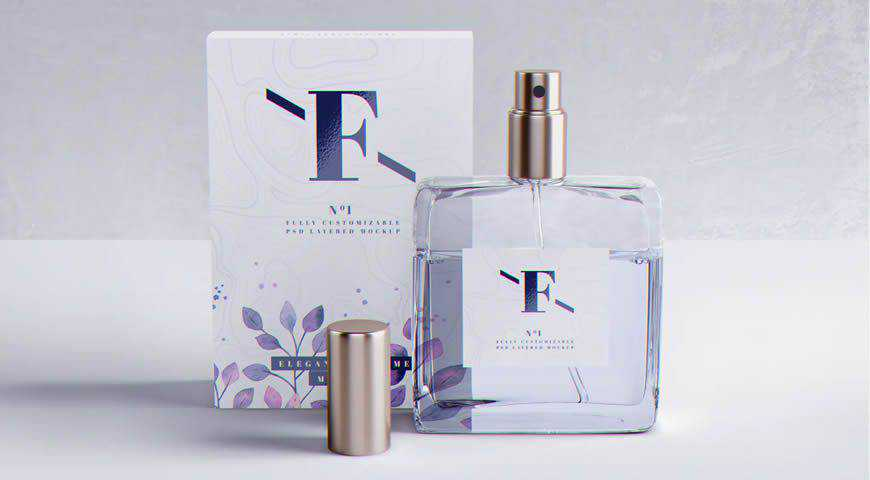 Perfume Packaging Photoshop PSD Mockup Template