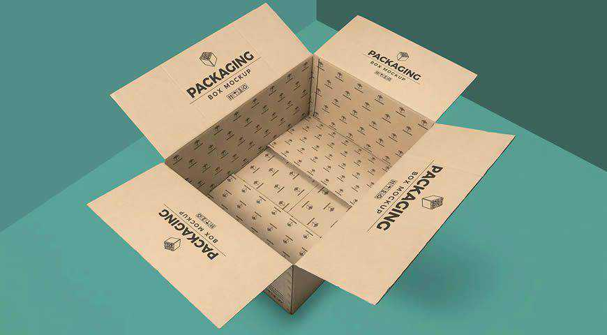 Packaging Box Photoshop PSD Mockup Template