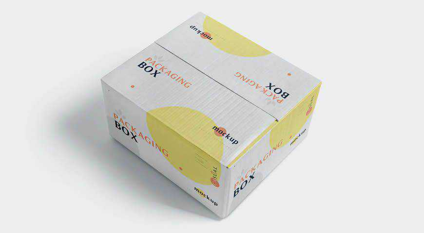ackaging Box Photoshop PSD Mockup Template